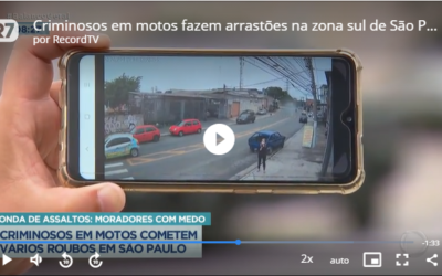 Câmeras ajudam a identificar criminosos na Zona Sul de São Paulo